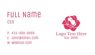 Women Face Rose Business Card