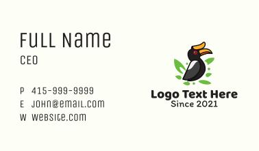 Tropical Hornbill Bird Business Card