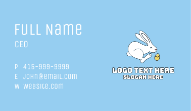 Easter Bunny Golden Egg Business Card