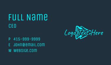 Cyan Arrow Wordmark Business Card