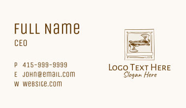 Vintage Wood Axe Business Card