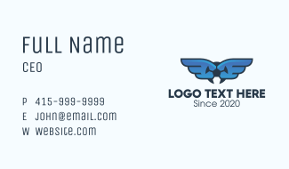 Soccer League Wings Business Card