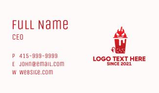 Red Devil Juice Business Card