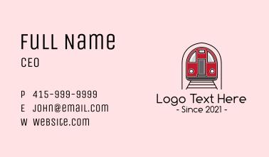 Subway Train Business Card
