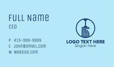 Cleaning Files  Business Card