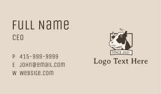 Cow Meat Shop  Business Card