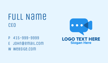 Video Camera Chat  Business Card