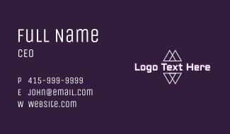 Modern Geometric Wordmark Business Card