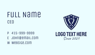 Blue Insurance Shield  Business Card
