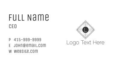 Nature Minimalist Letter Business Card