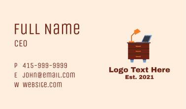 Home Office Desk  Business Card