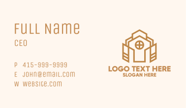 Abstract Church Property  Business Card