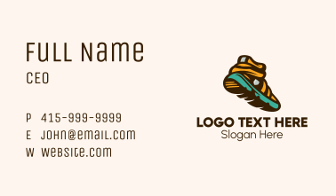 Running Trail Shoes Business Card
