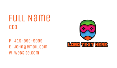 Colorful Gamer Mummy Business Card