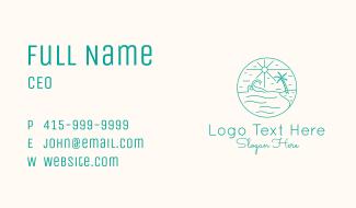 Minimal Tropical Beach Business Card