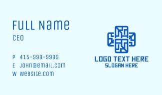 Digital Tech Cross Business Card