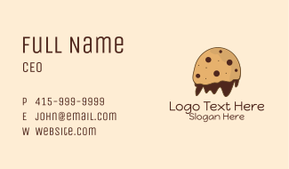 Chocolate Cookie Mascot Business Card