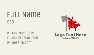 Meat Butcher Shop  Business Card