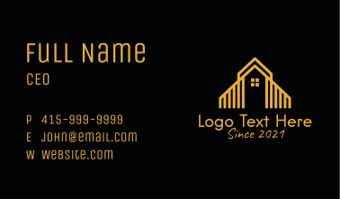 Deluxe Home Apartment  Business Card