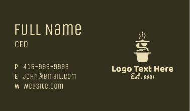 Culinary Hotpot Restaurant Business Card