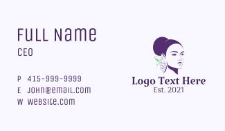 Purple Grape Lady Business Card