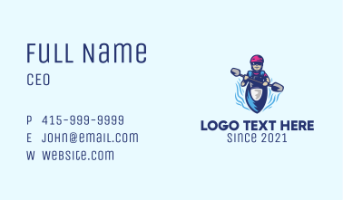 Kayak Athlete Mascot  Business Card