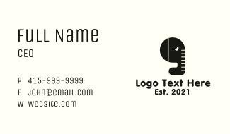 Black Elephant Quotation Business Card
