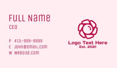 Pink Camera Flower  Business Card