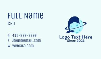 Dolphin Planet Orbit  Business Card