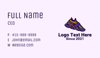 Colorful Hiking Sneakers Business Card
