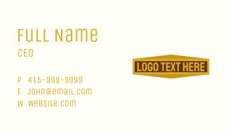 Golden Bar Wordmark Business Card