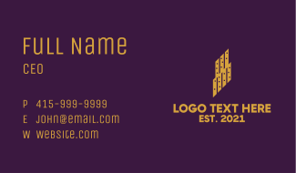 City Piano Building Business Card
