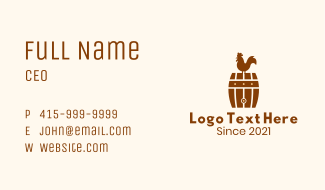 Barrel Rooster Farm Business Card