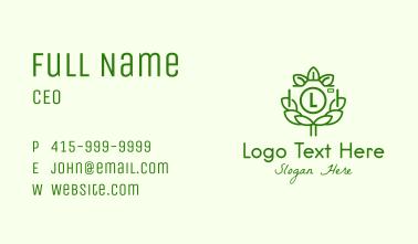 Leaf Camera Letter Business Card