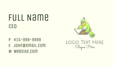 Bird Book Library Business Card
