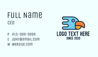 Modern Tropical Bird Business Card