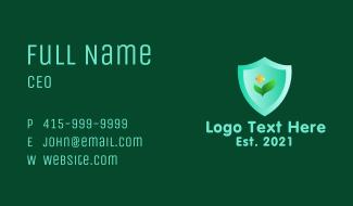 Organic Health Shield Business Card