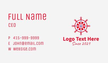 Patriotic Steering Wheel  Business Card