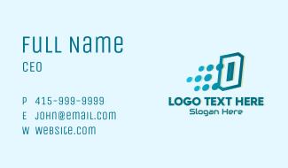 Modern Tech Number 0 Business Card