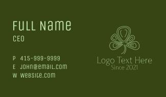Minimalist Clover Leaf  Business Card