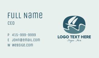 Sailing Yacht Badge Business Card