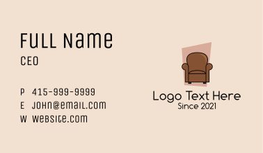 Classic Living Room Armchair  Business Card