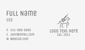 Minimalist Horse Knight Business Card
