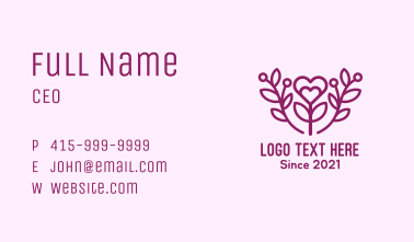 Purple Lovely Plant Business Card