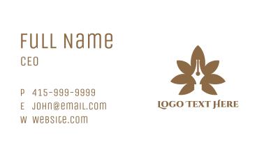 Brown Cannabis Pen Business Card