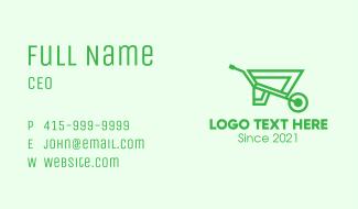 Eco Gardening Cart  Business Card
