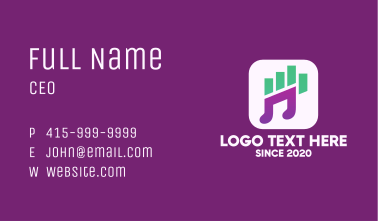 New Audio Streaming App Business Card