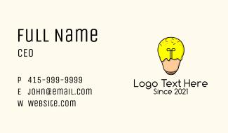Lightbulb Ice Cream  Business Card