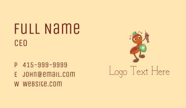 Medicine Nurse Ant Business Card