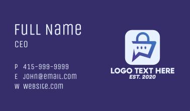 Digital Shopping App Business Card